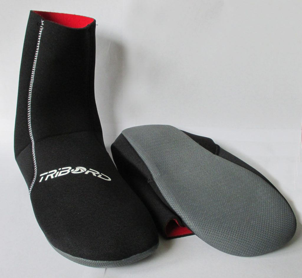 neoprene booties top and bottom