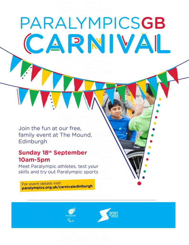 Paralympic carnival flyer